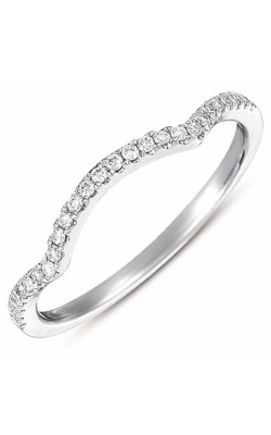 S Kashi & Sons Curved Wedding Band EN7371-BWG product image