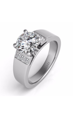 S Kashi & Sons Side Stone Engagement Ring EN7422WG product image