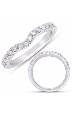 S Kashi & Sons Curved Wedding Band EN7487-BWG product image