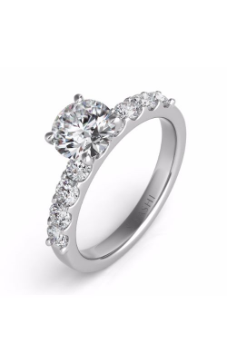 S Kashi & Sons Side Stone Engagement Ring EN7164WG product image