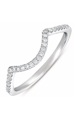 S. Kashi and Sons Curved Wedding Band EN7368-B50WG product image