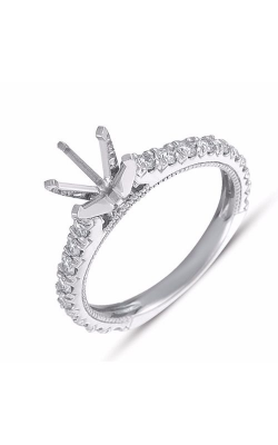 Deutsch & Deutsch Bridal Side Stone Engagement Ring EN7236WG product image