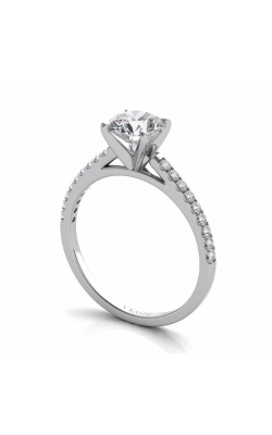 S Kashi & Sons Side Stone Engagement Ring EN7442WG product image