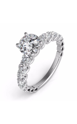 Deutsch & Deutsch Bridal Side Stone Engagement Ring EN7463WG product image