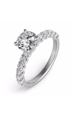 Deutsch & Deutsch Bridal Side Stone Engagement Ring EN7637WG product image