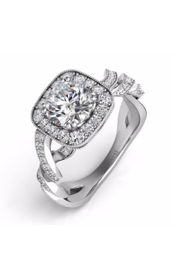 S Kashi & Sons Spiral Engagement ring EN7563-1WG product image