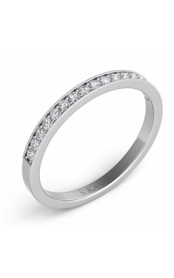 S Kashi & Sons Prong Set Wedding Band D4106WG product image