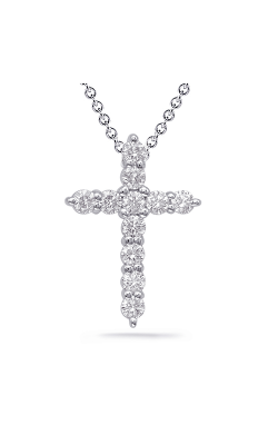 S Kashi & Sons Cross Necklace P2089WG product image