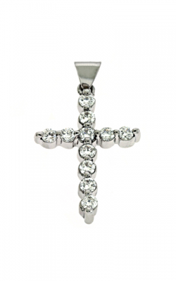 S Kashi & Sons Cross Necklace P2680WG product image