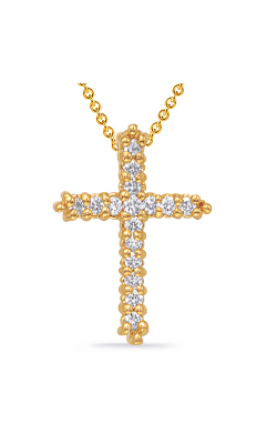 S Kashi & Sons Cross Necklace P2572YG product image