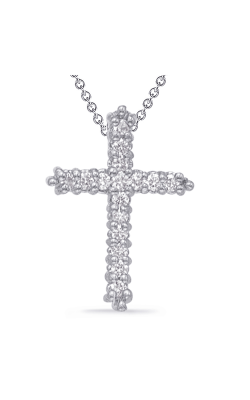 S Kashi & Sons Cross Necklace P2572WG product image