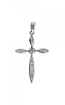 S Kashi & Sons Cross Necklace P2202WG product image