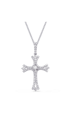 S Kashi & Sons Cross Necklace P3224WG product image