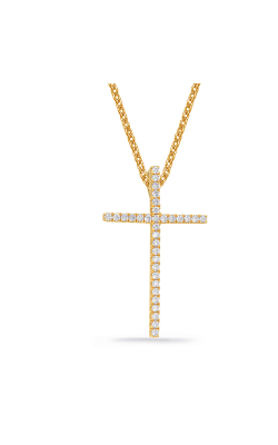 S Kashi & Sons Cross Necklace P3144YG product image