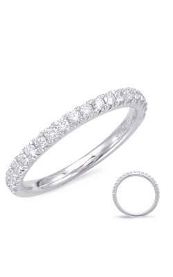 S Kashi & Sons Prong Set Wedding Band EN7891-BWG product image