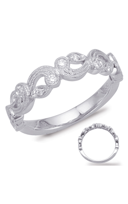 S Kashi & Sons Stackables Wedding Band EN8019-BWG product image