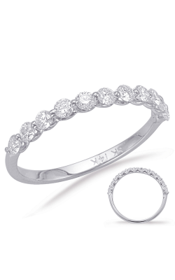 S Kashi & Sons Prong Set Wedding Band EN7966-BWG product image