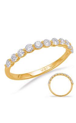 Deutsch & Deutsch Bridal Prong Set Wedding Band EN7966-BYG product image