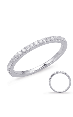 S Kashi & Sons Prong Set Wedding Band EN7936-BWG product image