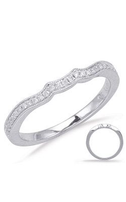 S Kashi & Sons Curved Wedding Band EN7955-BWG product image
