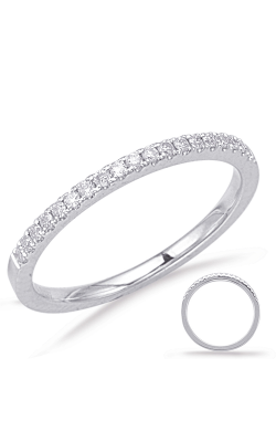 S Kashi & Sons Prong Set Wedding Band EN7939-BWG product image