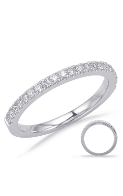 S Kashi & Sons Prong Set Wedding Band EN8083-BWG product image