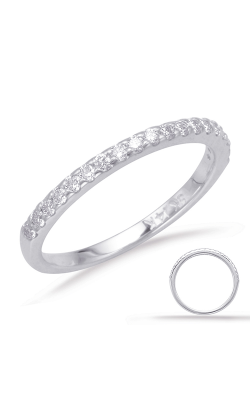 S Kashi & Sons Prong Set Wedding Band EN8089-BWG product image