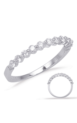 S Kashi & Sons Prong Set Wedding Band EN8092-BWG product image