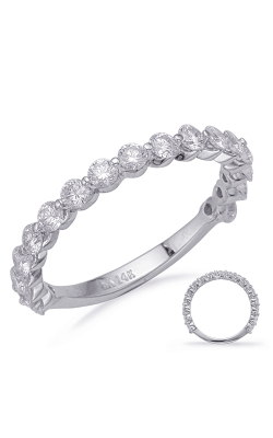 S Kashi & Sons Prong Set Wedding Band EN8095-BWG product image