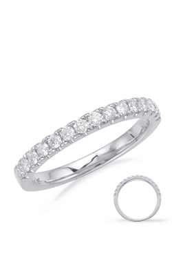 S Kashi & Sons Prong Set Wedding Band EN8103-BWG product image