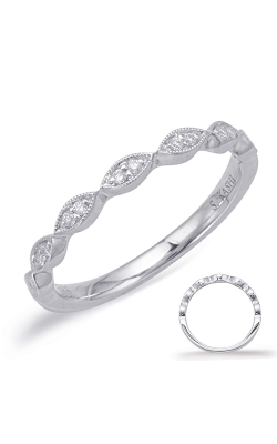 S Kashi & Sons Prong Set Wedding Band EN8038-B75WG product image