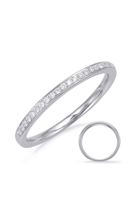 S Kashi & Sons Prong Set Wedding Band EN8112-BWG product image