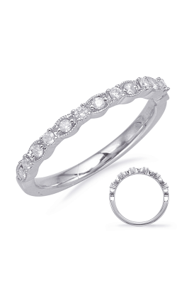 S Kashi & Sons Prong Set Wedding Band EN8114-BWG product image
