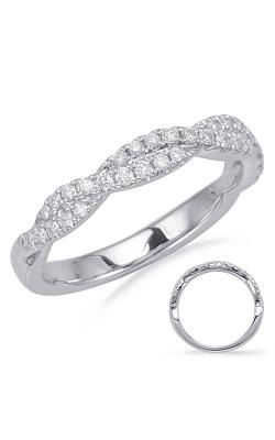 Deutsch & Deutsch Bridal Criss Cross Wedding Band EN8116-BWG product image