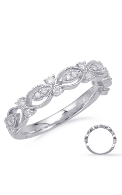 S Kashi & Sons Stackables Wedding Band EN8124-BWG product image