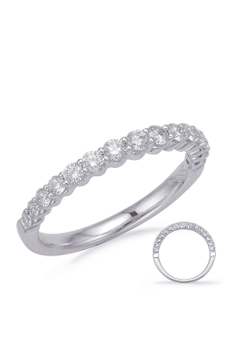 S Kashi & Sons Prong Set Wedding Band EN7996-BWG product image