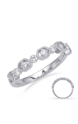 Deutsch & Deutsch Bridal Stackables Wedding Band EN8134-BWG product image
