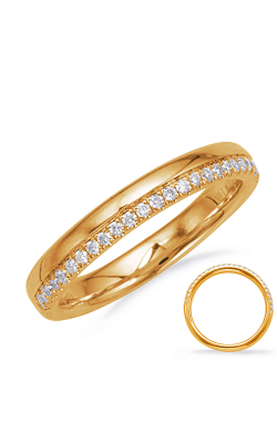 S Kashi & Sons Prong Set Wedding Band EN8136-BYG product image