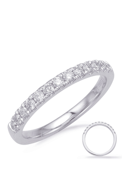 S Kashi & Sons Prong Set Wedding Band EN8185-B10WG product image