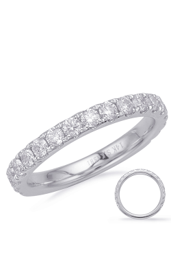 S Kashi & Sons Prong Set Wedding Band EN8180-BWG product image
