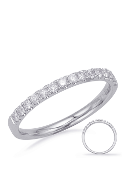 S Kashi & Sons Prong Set Wedding Band EN8179-B75WG product image