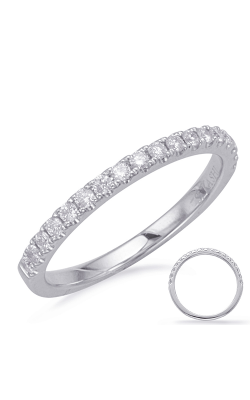 S Kashi & Sons Prong Set Wedding Band EN7916-BWG product image
