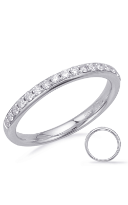 S Kashi & Sons Prong Set Wedding Band EN8177-BWG product image