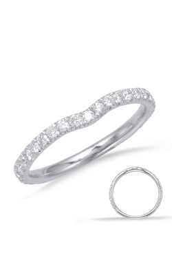 S Kashi & Sons Curved Wedding Band EN7918-B75WG product image