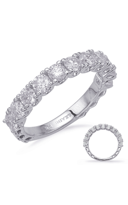 S Kashi & Sons Prong Set Wedding Band EN8225-BWG product image