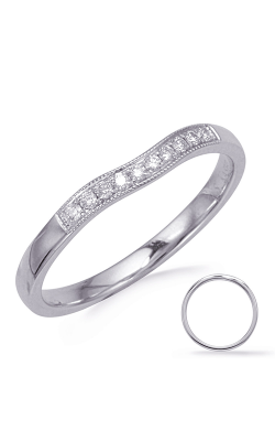 S Kashi & Sons Curved Wedding Band EN8050-B50WG product image