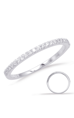 S Kashi & Sons Prong Set Wedding Band EN1705-BWG product image