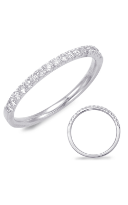 S Kashi & Sons Prong Set Wedding Band EN7597-BWG product image