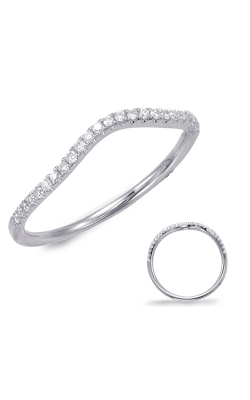 S Kashi & Sons Curved Wedding Band EN7592-BWG product image