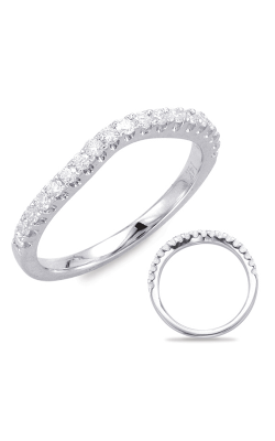 Deutsch & Deutsch Bridal Curved Wedding Band EN7635-BWG product image